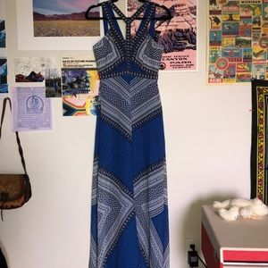 BBCG blue long summer dress